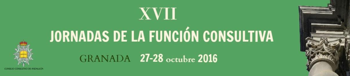 XVII Jornadas de la Función Consultiva – Granada 27-28 octubre 2016.