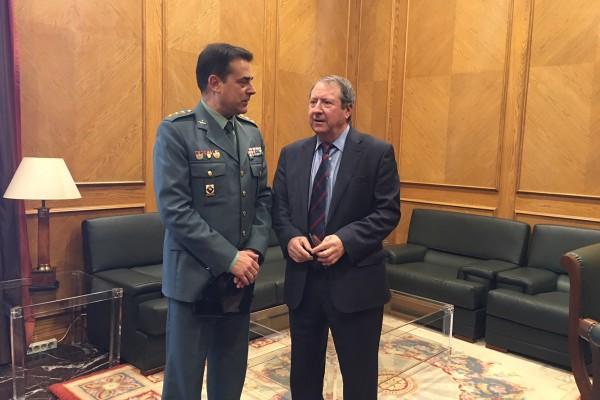 Visita coronel Guardia Civil Francisco García Sánchez