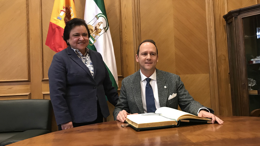 Visita del rector de la Universidad Internacional de Andalucía al Consejo Consultivo