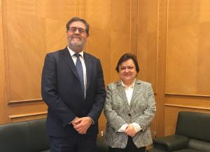 El presidente de la Cámara de Cuentas, junto a la presidenta del Consejo Consultivo de Andalucía